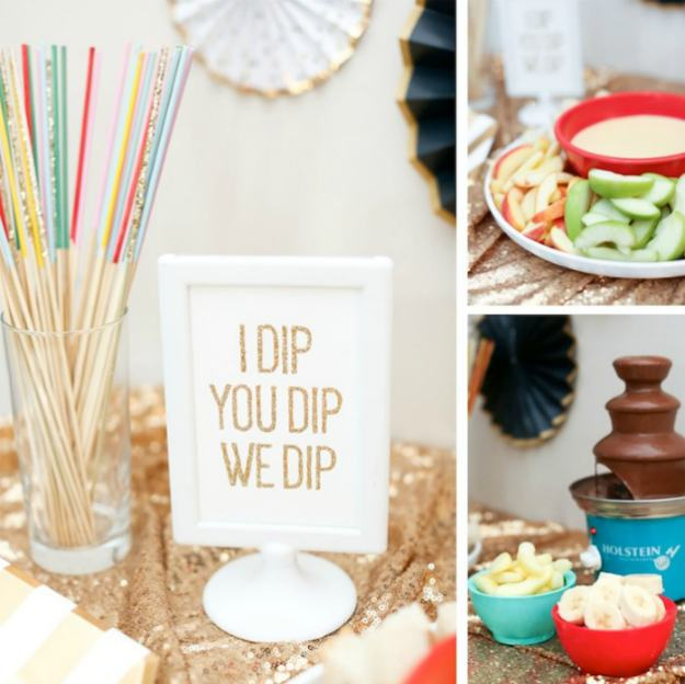 cheese dip chocolate fountain | The Best Kids' Party Ideas For All Occasion