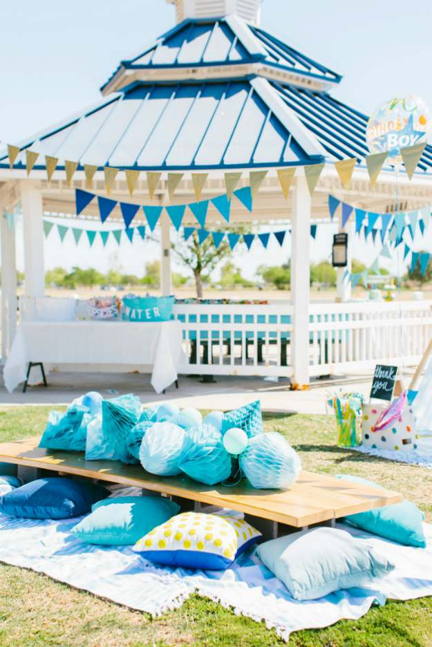 blue outdoor picnic party | The Best Kids' Party Ideas For All Occasion
