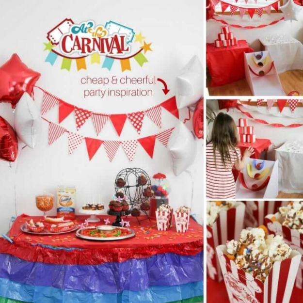 carnival themed party banners popcorn | The Best Kids' Party Ideas For All Occasion