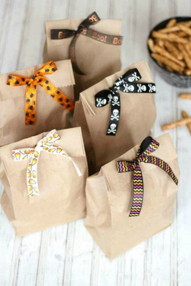 brown bags scissors ribbon crafts | The Best Kids' Party Ideas For All Occasion