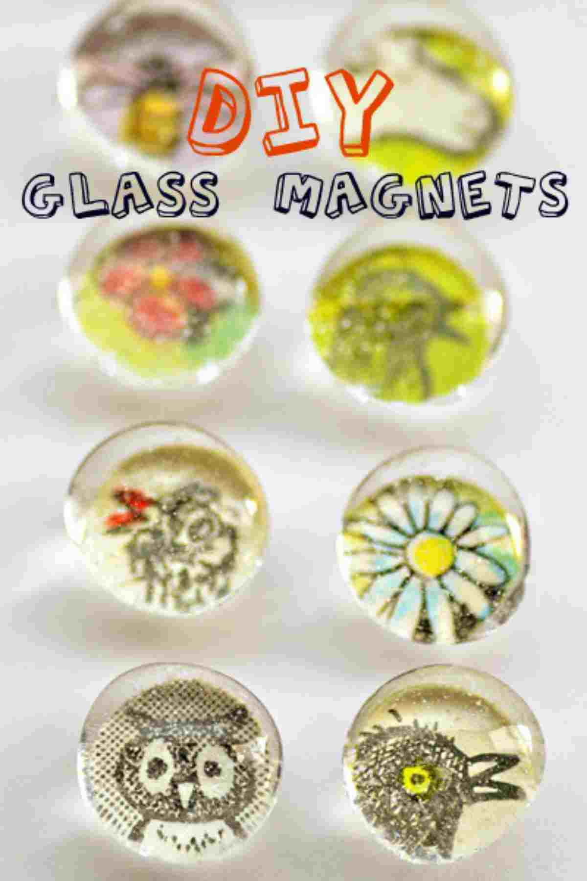 different glass magnets | Projects For Teenagers | 39 Cool DIY Crafts For Teens | art projects for teenage students