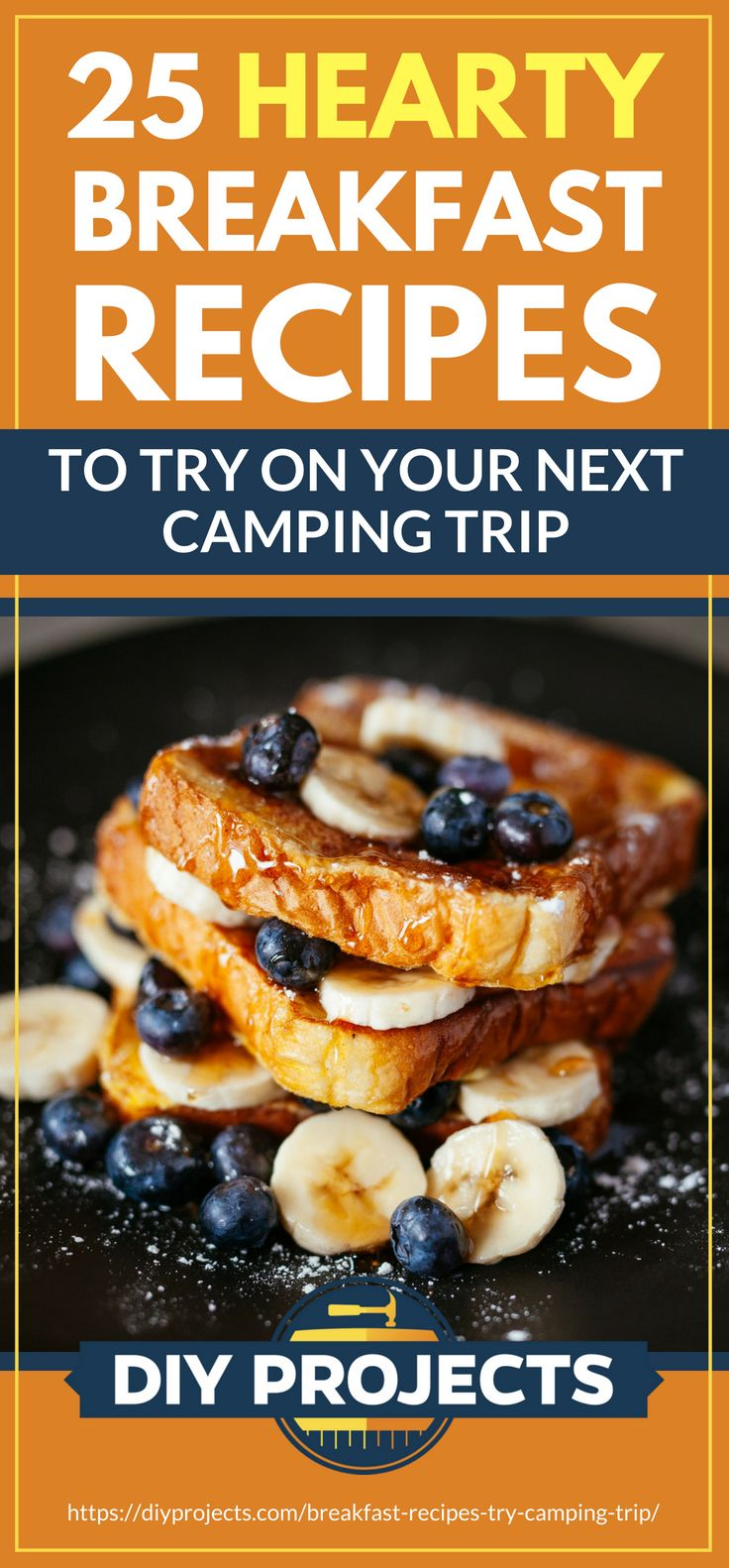 Pinterest Placard | 25 Hearty Breakfast Recipes To Try On Your Next Camping Trip