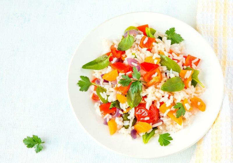 vegetarian risotto white rice fresh colourful | summertime bbq recipes