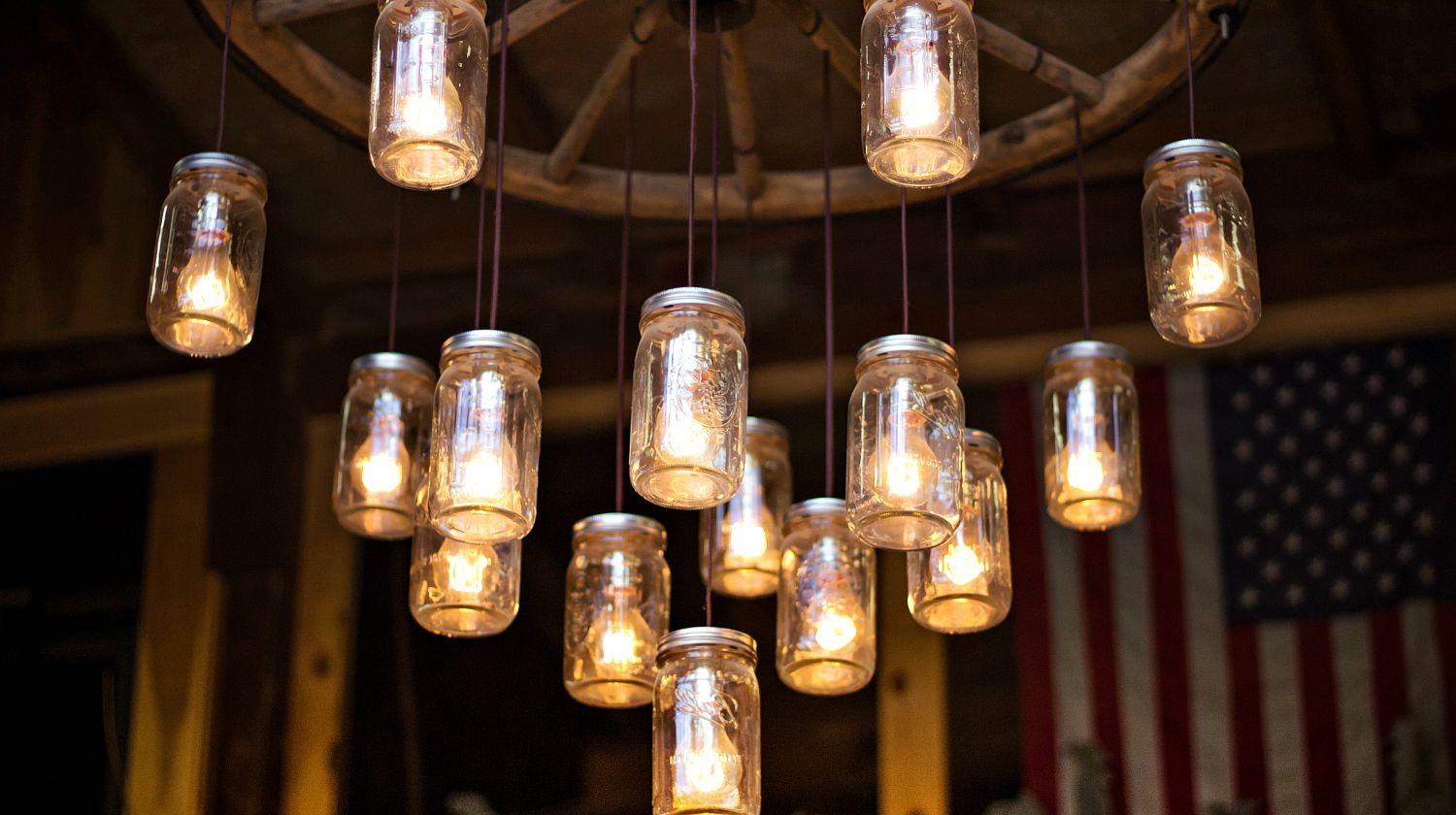 Feature | Hanging jar with lighted lights | How To Make Mason Jar Solar Lights