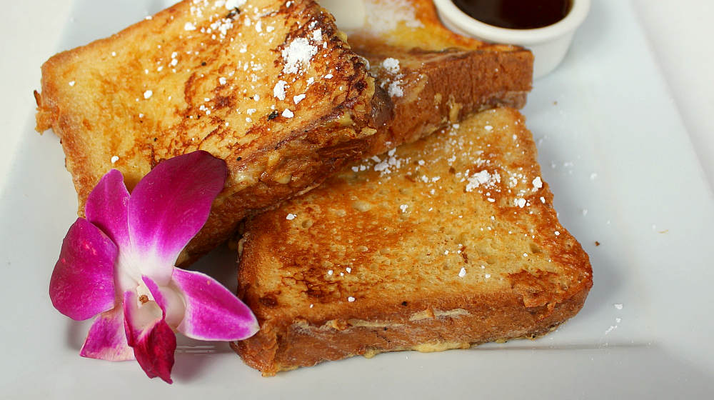 French toast with flower and syrup | French Toast Recipe | How To Make Homemade French Toast |