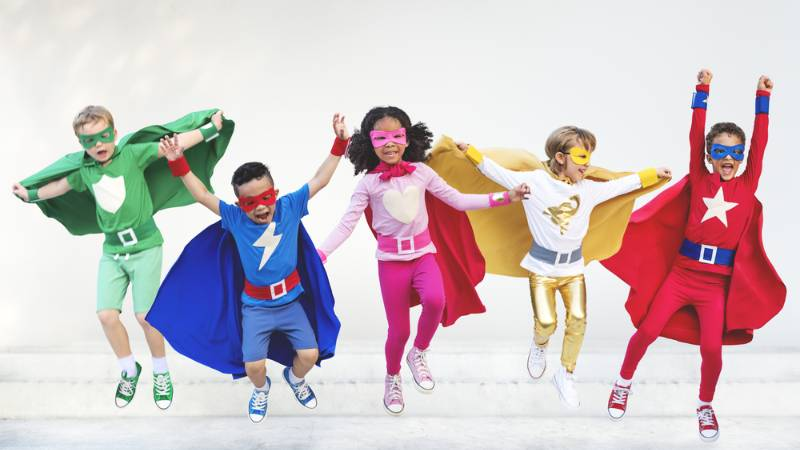 superheroes-kids-friends-playing-togetherness-fun | superhero costume for kids