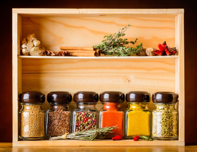 jar-cooking-spices-ingredients-pepper-garlic | 800+ DIY Organization Ideas For A Clutter-Free Life