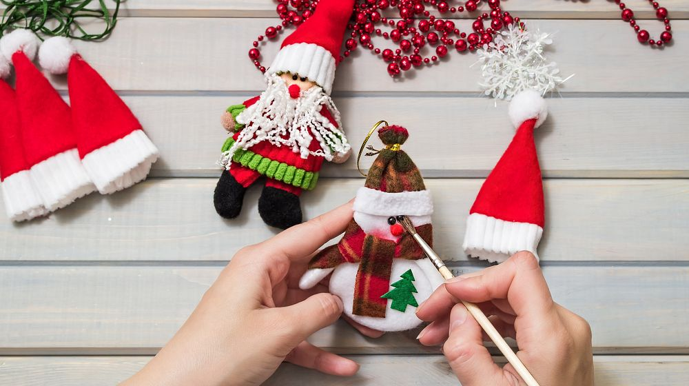 christmas-gifts-handmade-wooden-background-top | Easy DIY Christmas Ornaments For A Personalized Tree Decor | Featured
