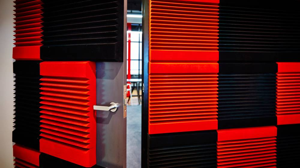 interior photography detail soundproofing tiles inside   How To Soundproof Your Space   Featured