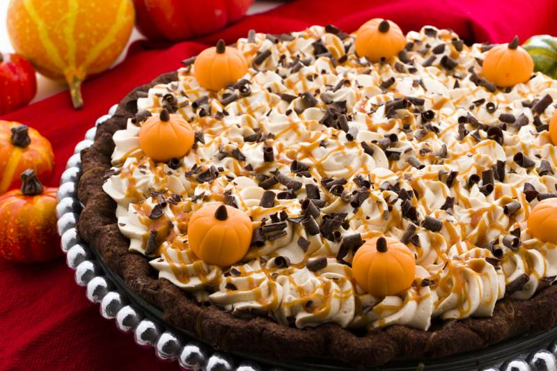 chocolate-salted-caramel-pumpkin-cream-pie | holiday dessert