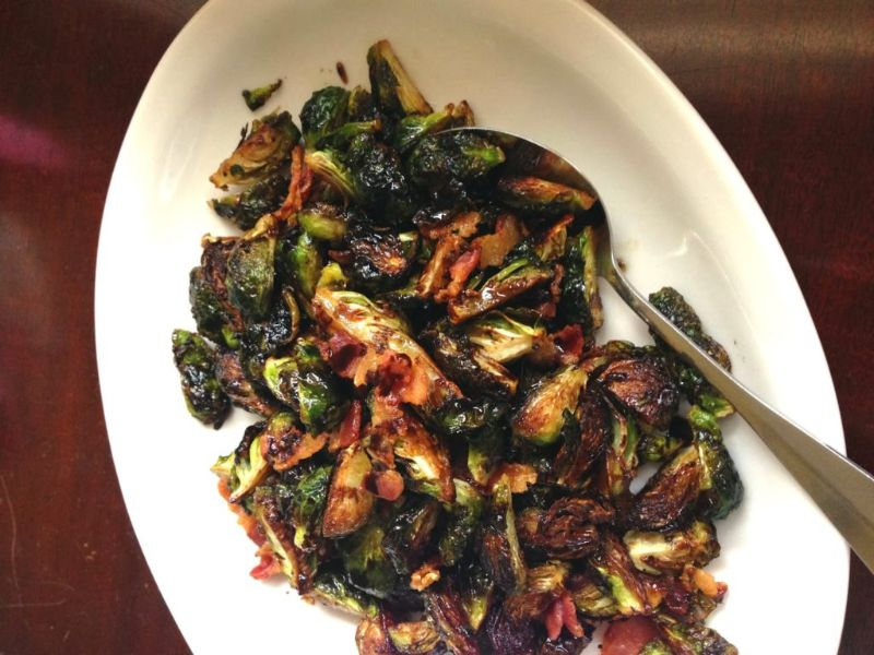 balsamic-brown-sugar-brussels-spouts | thanksgiving side dishes make ahead