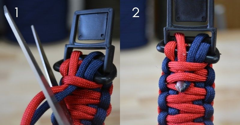 Secure and Finalize | paracord dog collar designs