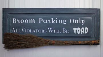 broom parking only | Create A No Broom Parking Halloween Sign | Featured