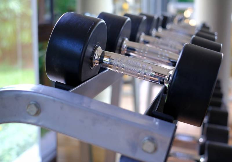 close-picture-steel-dumbbells-black-rubber | Diy dumbbell weight rack