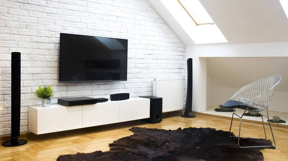modern-apartment-home-theater | DIY Entertainment Center Ideas For Your Home Theater | Featured
