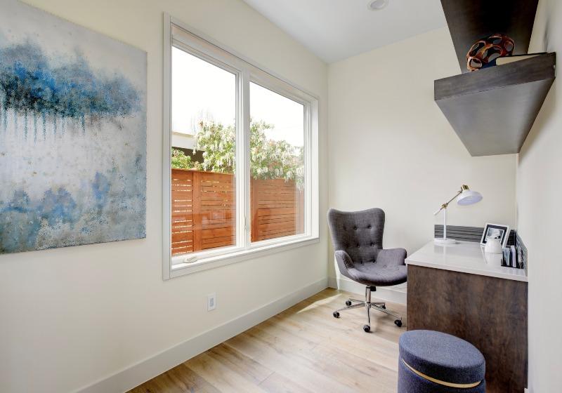 Home Office Interior With Corner Desk | DIY Corner Desk | Featured
