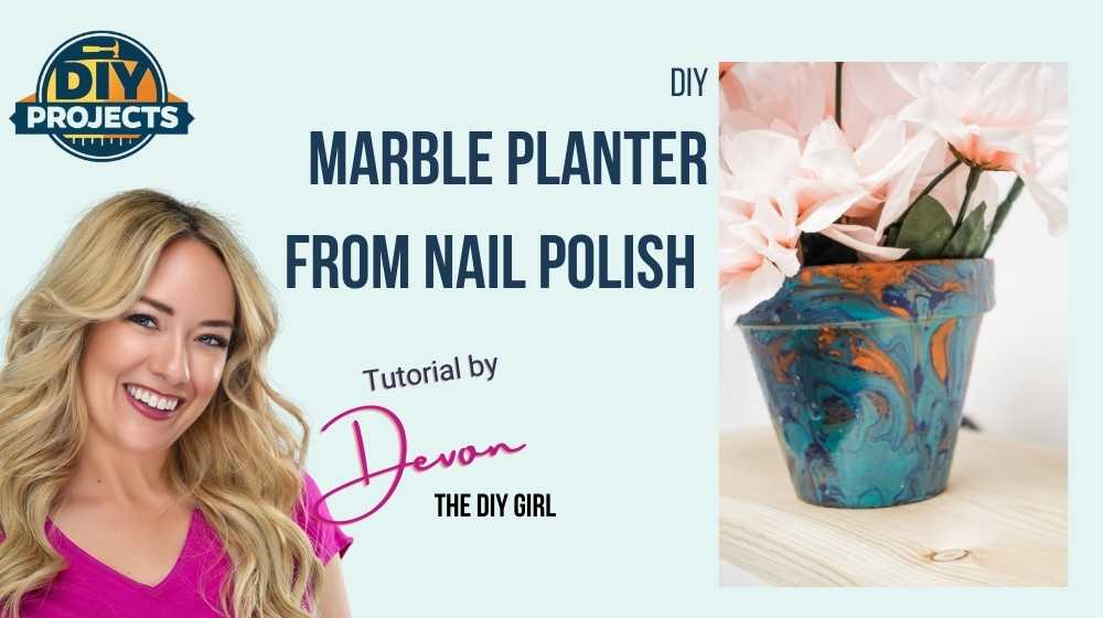 DIY Marble Planter From Nail Polish DIY Marble Planter | Featured